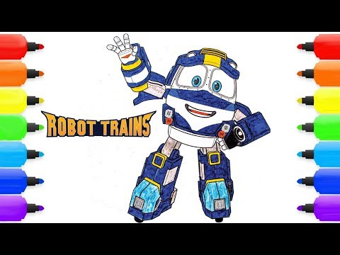 Coloring ROBOT TRAIN KAY  |ROBOT TRAIN Coloring Pages for kids Children