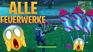 Fortnite FREE pickaxe ZÜNDE 3 fireworks on the riverbank - 14 days summer challenges
