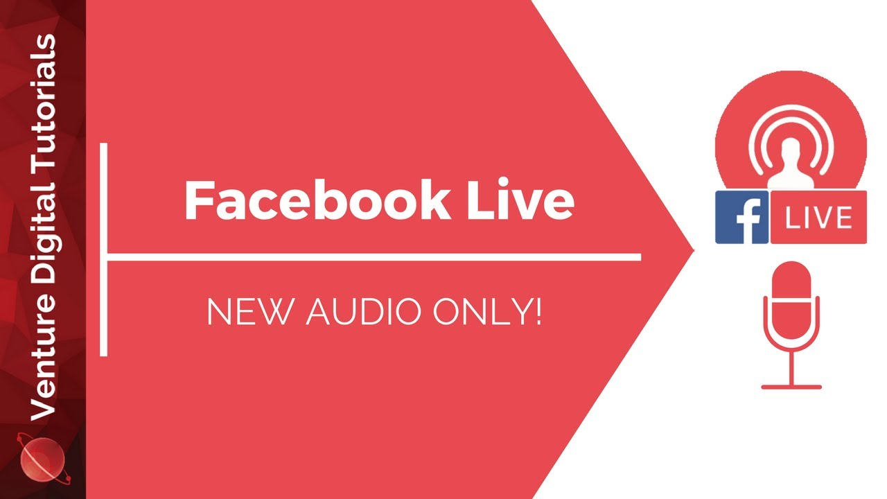 Facebook Live Audio Only Streaming
