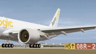 AeroLogic B777-FZN / Landing to Leipzig-Halle Rwy08R / EDDP