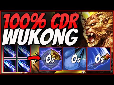 Season 11 WUKONG But Spells Have NO COOLDOWNS! | New 100% CDR Wukong Fun Build - League of Legends