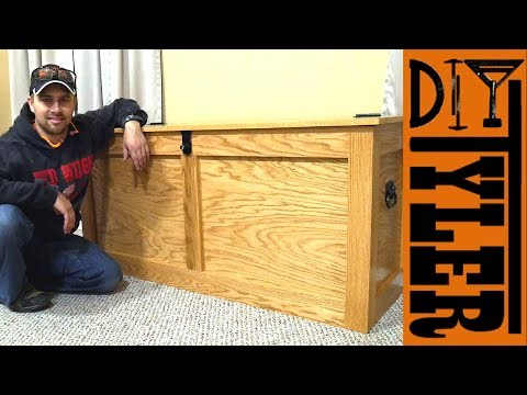 Red Oak Storage Chest with Solid Oak Edge Banding | How To Build