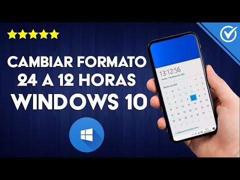 Cómo Cambiar el Formato de hora de 24 a 12 Horas en PC Windows 7/8/10