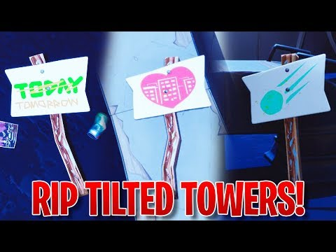 *LIVE PROOF* TILTED TOWERS IS BEING DESTROYED! ✅ - Fortnite TILTED TOWERS METEOR SHOWER SIGNS!!