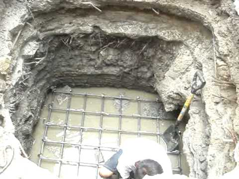 footing construction - YouTube