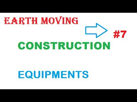 Earth Moving  Equipment Used In Construction Industry And Their Names
