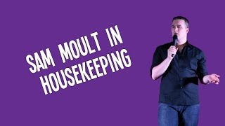 Sam Moult in Housekeeping at #DubomedyMixTape