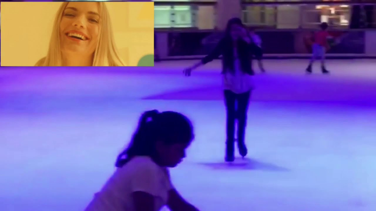 FUNNY GIRL FALLS WHILE ICE SKATING   TRY NOT TO LAUGH (FAIL COMPILATION)