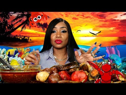 Seafood Mukbang: 2lbs Mussels, 2lbs Clams, 2 Lobster tails and Potatoes