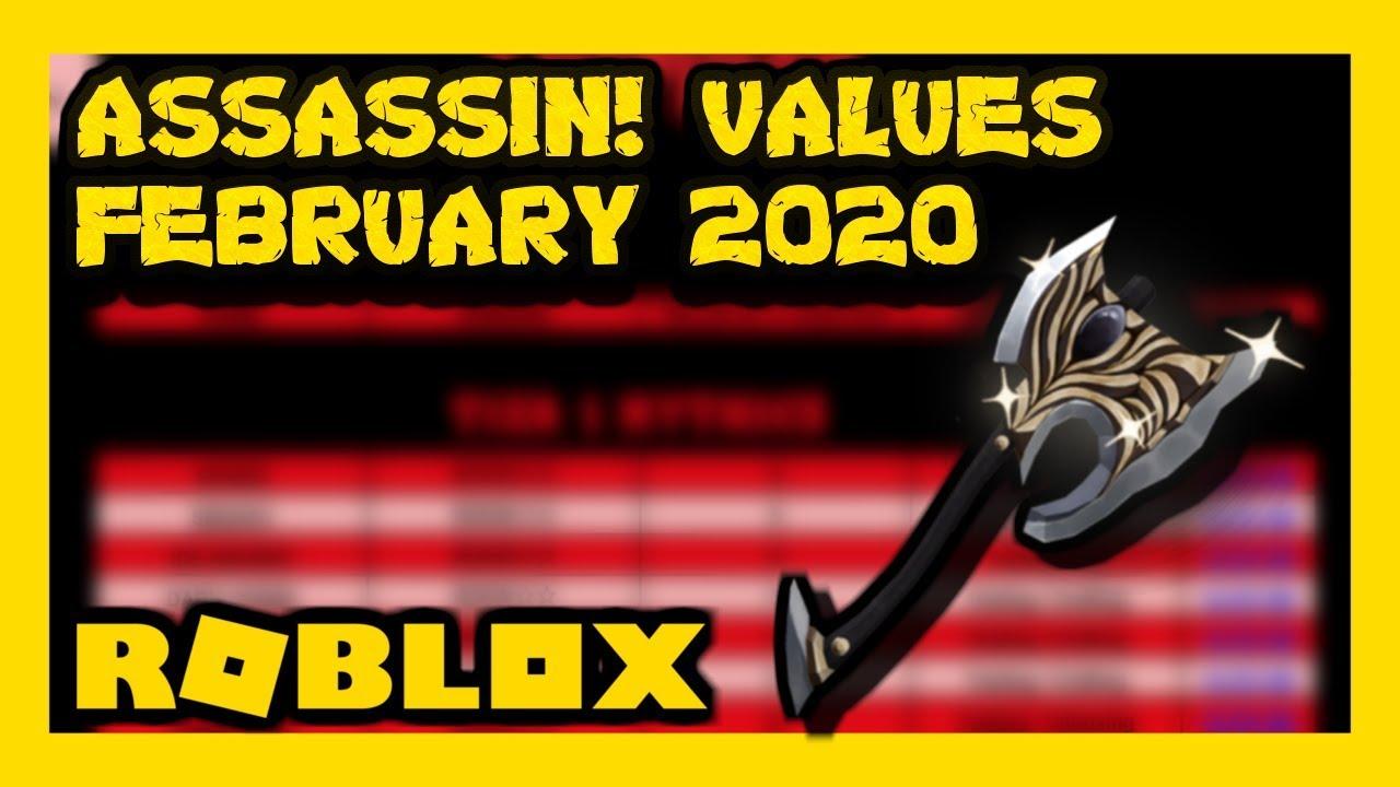 Roblox Assassin Value List February 2020 Youtube