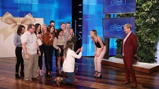 A Surprise Proposal And Ellen's Big Wedding Gift For A Viral Couple