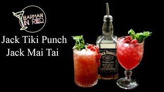 2 Jack Daniels Cocktails - Mai Tai Jack and Tiki Punch Jack