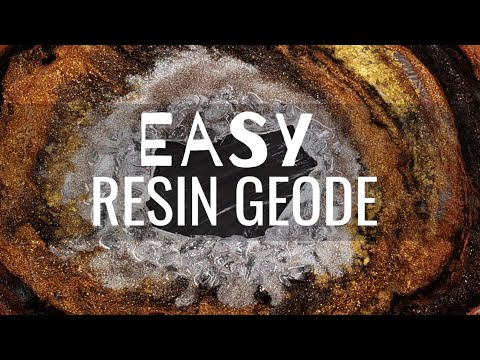 Easy Resin Geode Tutorial