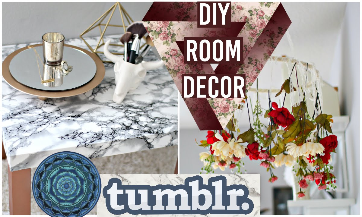 Diy room decorations tumblr inspired fall 2015 youtube for Room decoration pictures