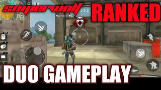 SNIPERWOLF - Duo Ranked GamePlay..Free Fire Battlegrounds..A124 Character