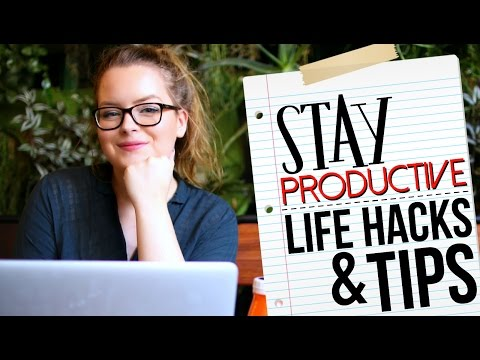 10 PRODUCTIVITY LIFE HACKS (Tips & Advice)