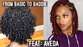 Basic to Baddie Triangle Box Braid Bob... in partnership with AVEDA
