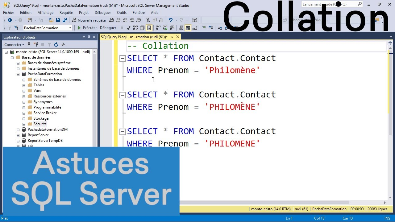 Comprendre les collations dans SQL Server