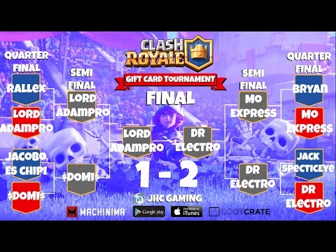 Gift Card Bracket Tournament -  Clash Royale