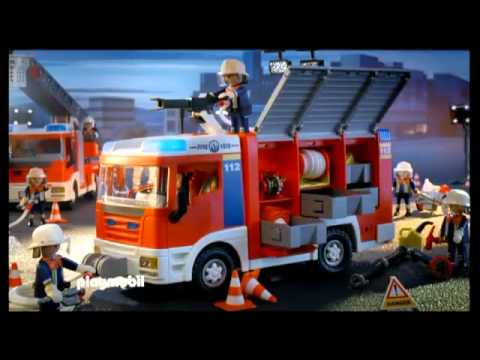 Playmobil serie bomberos helic ptero prevenci n de for Helicoptero playmobil