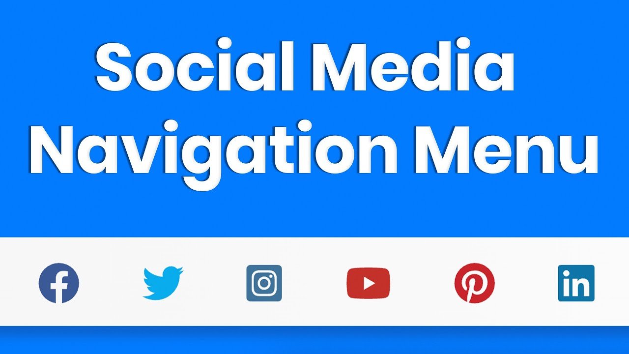 Sticky Social Media Menu with HTML5, CSS3, Bootstrap 4, & Font Awesome