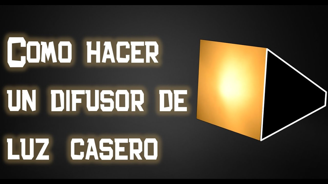 Como hacer un difusor softbox de luz casero youtube - Como construir un terrario ...