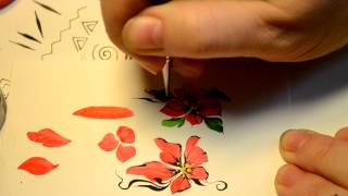 Дизайн ногтей.Художественная роспись. Линии и мазки. 6 часть.Учимся рисовать.