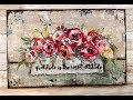 Rustic floral  using pressed paper - Sunday inspiration 9 30 18