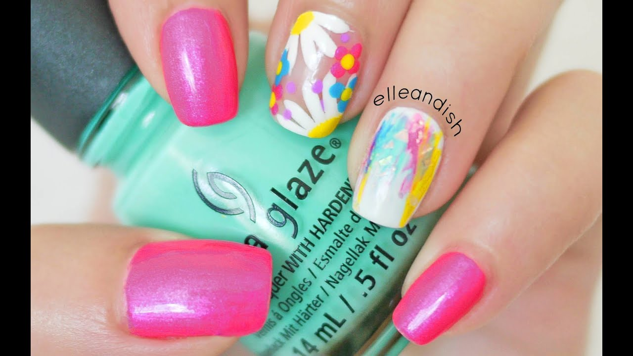 Electric Daisy Nails for EDC with Makeup & Outfit by Christen ...