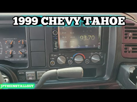 1999 Chevy Tahoe Radio Removal And Full Double Din Install