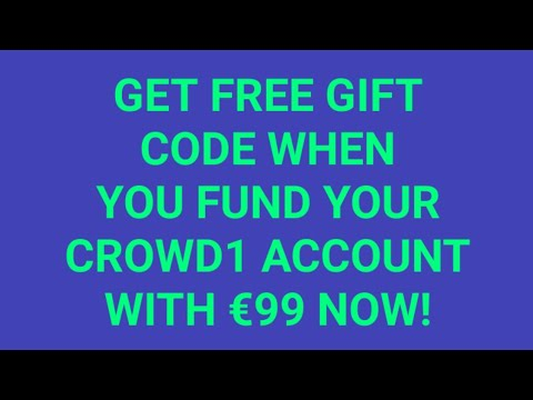 Get free €99 gift code for free from crowd1