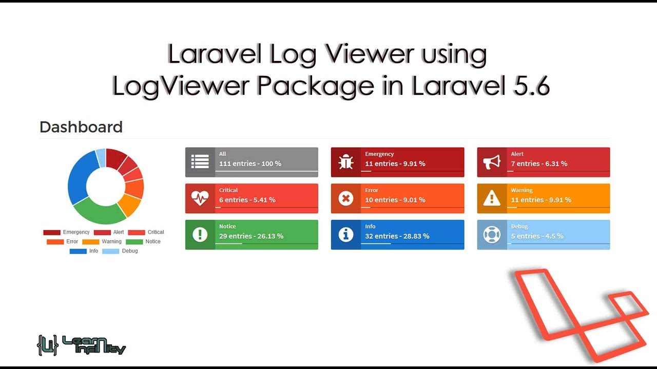 Laravel Log Viewer using LogViewer Package in Laravel 5 6 - Learn Infinity