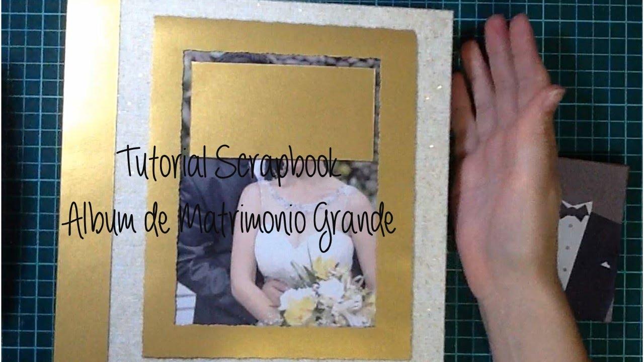 Tutorial scrapbook c mo hacer un lbum de matrimonio - Como hacer un album scrapbook ...