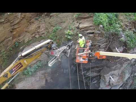 TEI HEM560 Drilling Attachment Aerial Demo