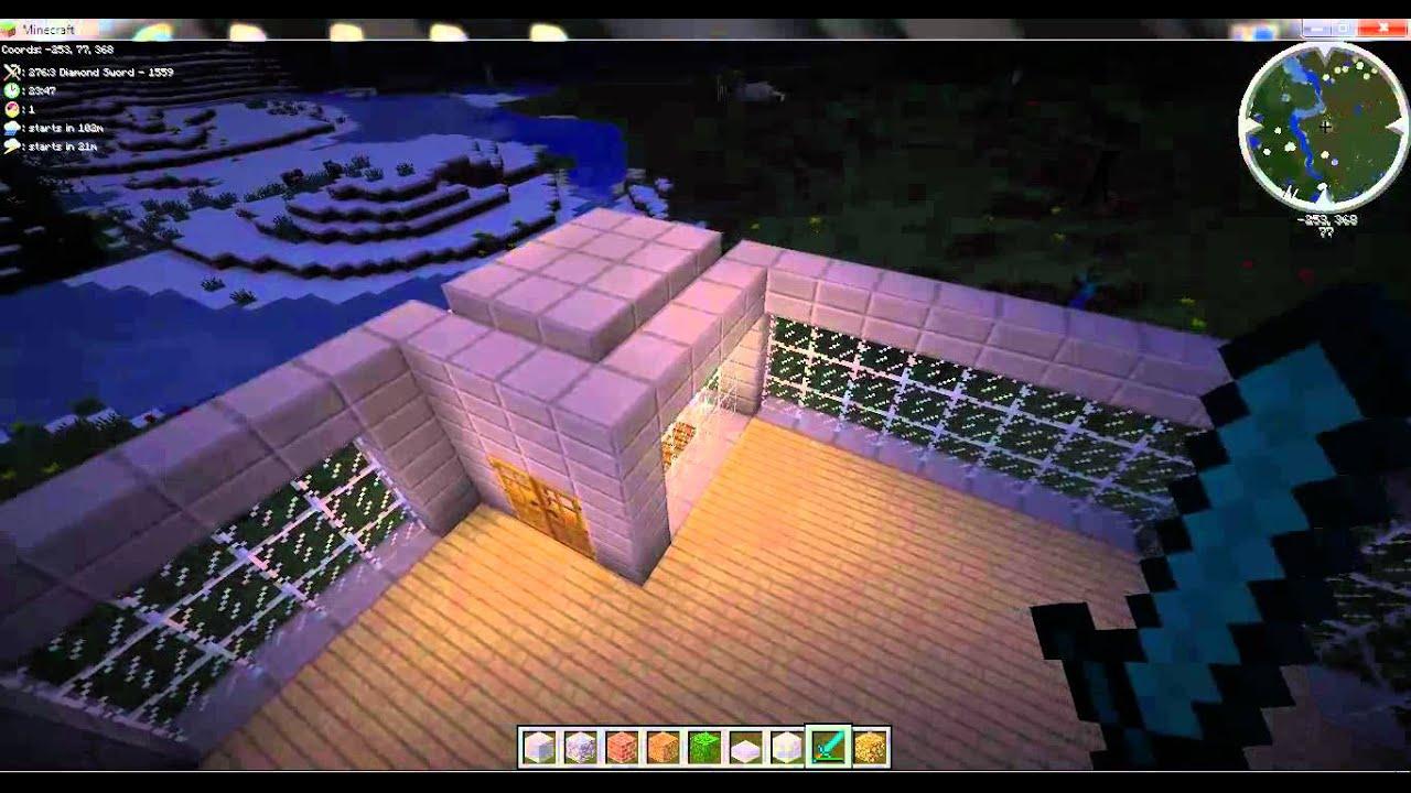 Minecraft   construction d'une maison moderne   1   youtube