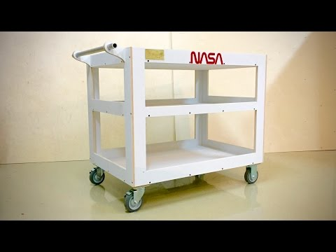 Wooden Utility Cart - Tom Sachs Insprired