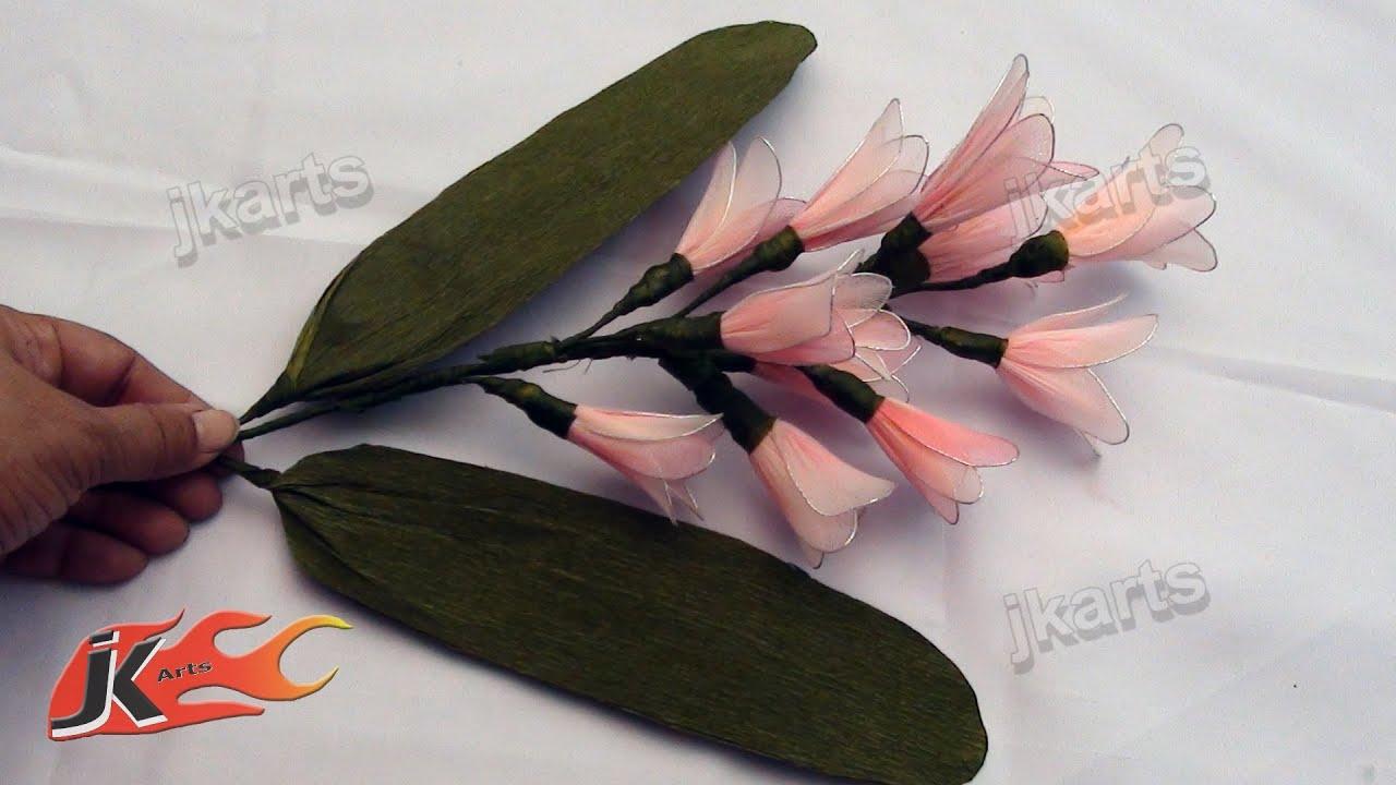 DIY Stocking Flower Bouquet Hyacinth - JK Arts 113 - YouTube