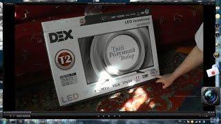Телевизор DEX DVB T2 Обзор и тест  (аналоговый + цифровой)