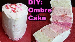 Ombre Mini Heart Cake For Valentine's Day