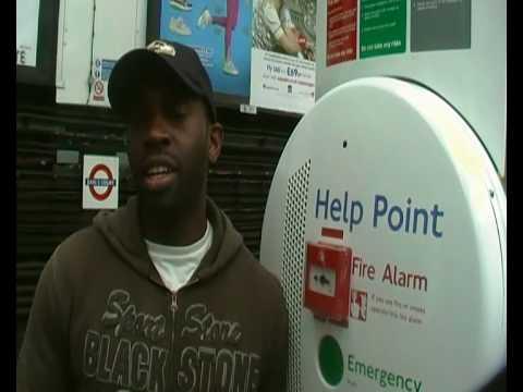 American tourist on London underground