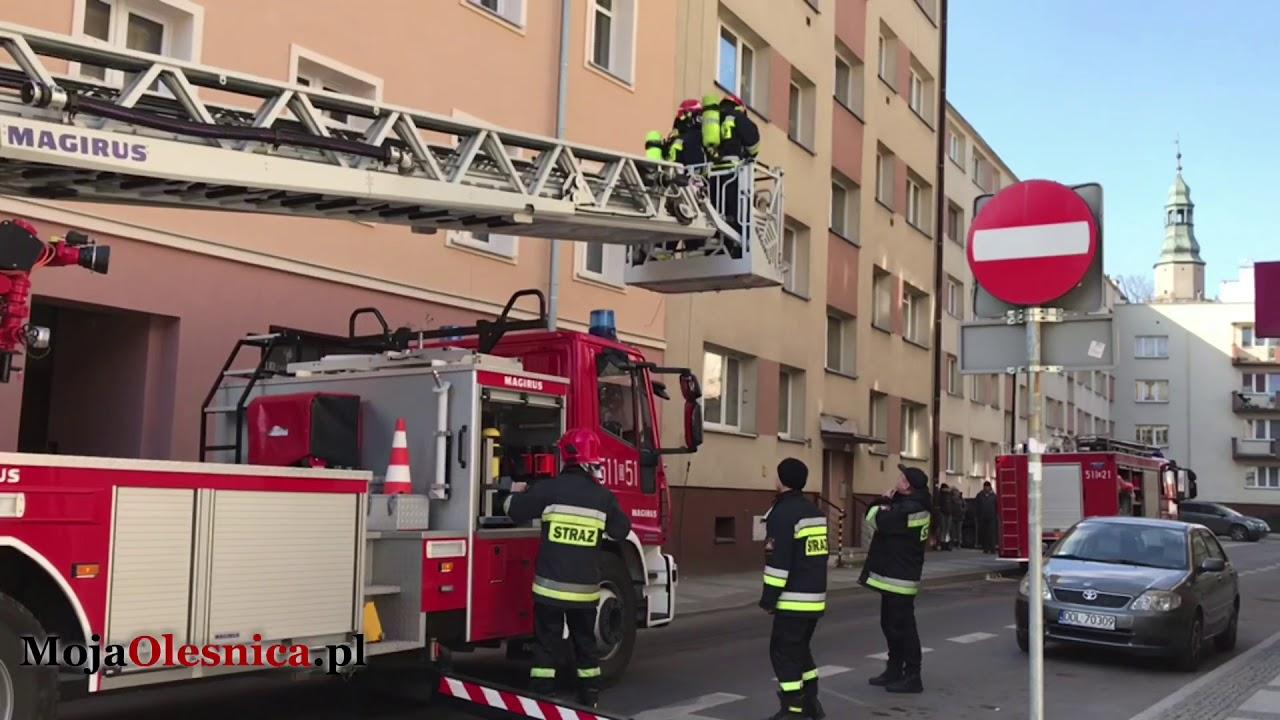 26.02.2018 Oleśnica – pożar w centrum