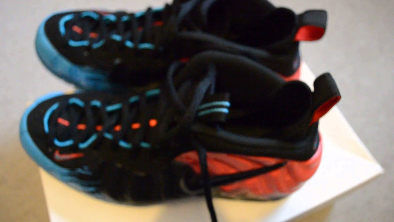 db48485b9aa Nike Foamposite Spiderman Unboxing + review + on foot - YouTube