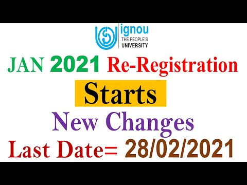 Re-Registration START For JAN 2021 SESSION    New Changes In IGNOU Re-Registration    Complete Info