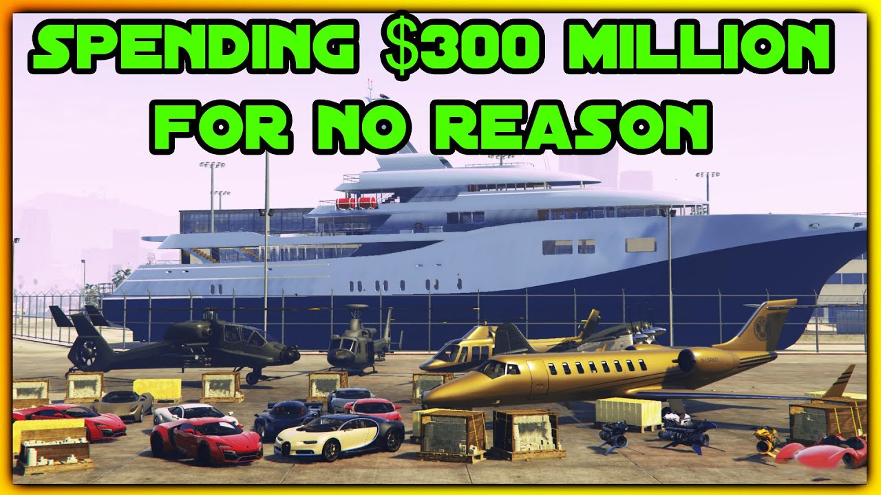 SPENDING $300,000,000 IN GTA 5 ONLINE (GTA 5 Spending Spree! W/ Face Cam)