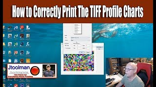How to Correctly Print The TIFF Profile Charts