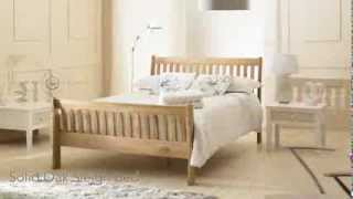 Bestpricebeds Richmond Solid Oak Sleigh Bed Frame