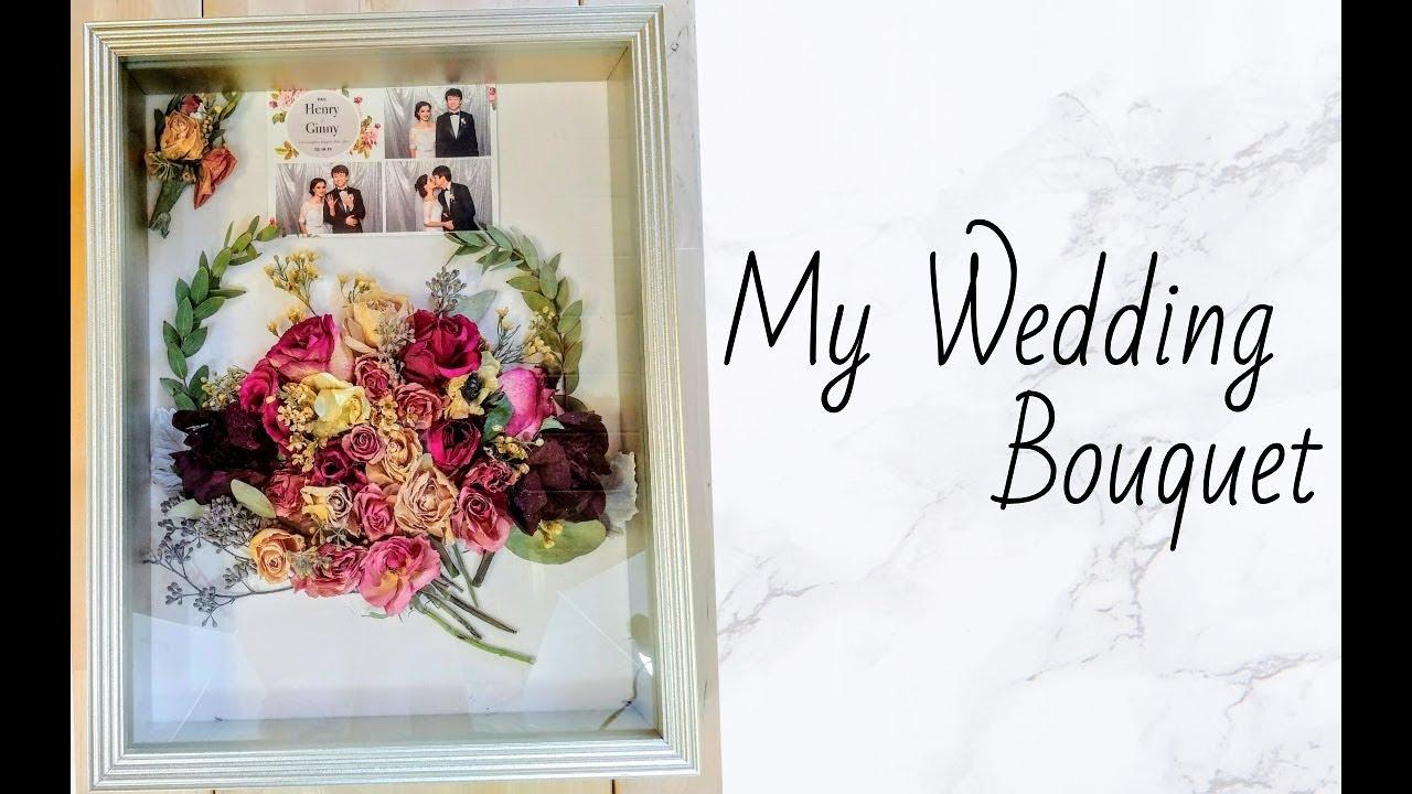 D I Y My Wedding Shadow Box Bouquet