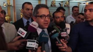 بالفيديو ... وزير الآثار يفتتح معرض المستنسخات الأثرية بالمتحف المصري