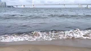 광안리 바다 파도 Busan Gwanganri beac…