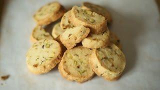 Pistachio and Lemon Simple Shortbread - Baking Building Blocks